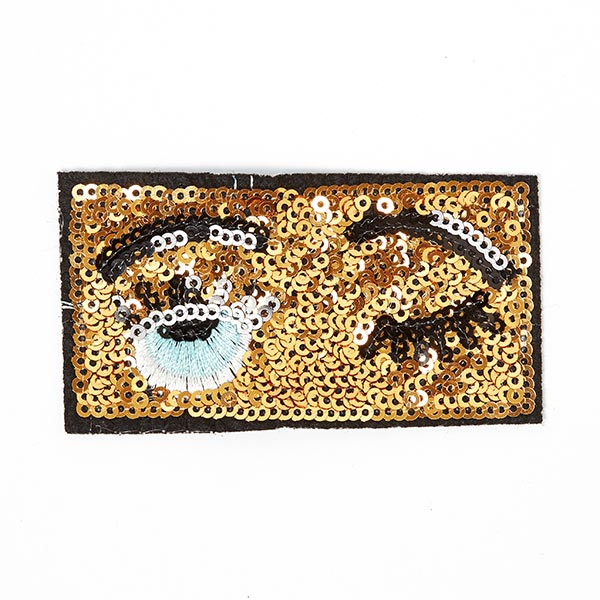 Patch Fancy Eyes (4,5 x 8,2 cm) – doré