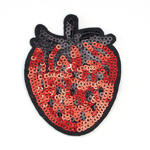 Applikation  Erdbeere (5,7 x 7,2 cm) – rot