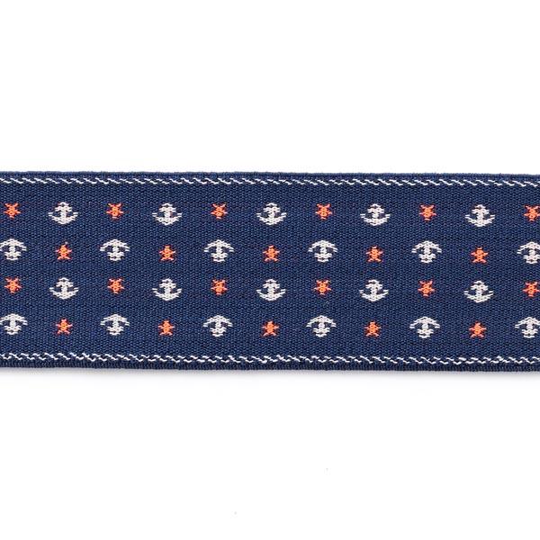 Ruban décoratif Ancre [5 cm] – bleu roi/blanc