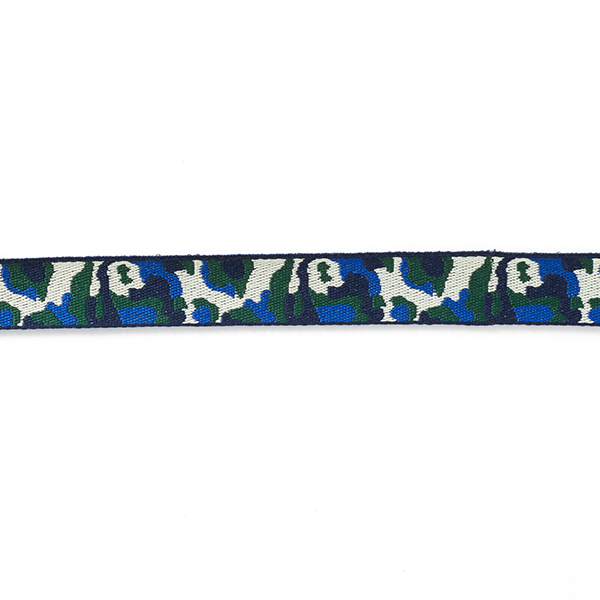 Ruban tissé Camouflage [21 mm] – bleu marine/vert foncé