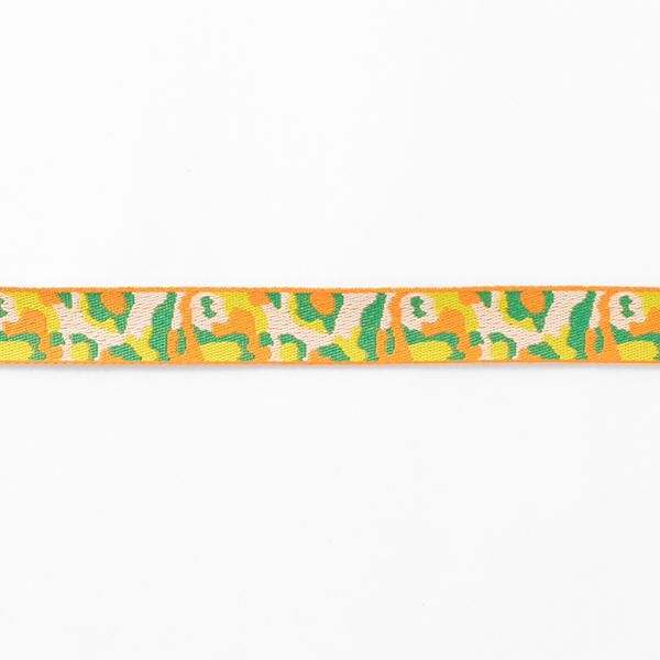 Ruban tissé Camouflage [21 mm] – orange/vert