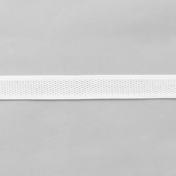 Ruban tricoté  Filet [23 mm] – blanc