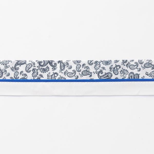 Ruban Paisley [42 mm] – blanc/bleu