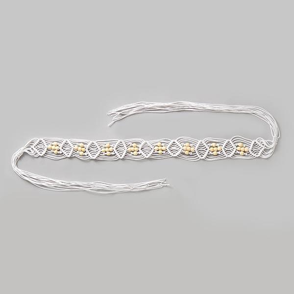 Perles Ceinture – blanc/écru