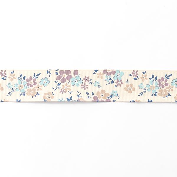 Ripsband Blumenwiese [38 mm] – creme