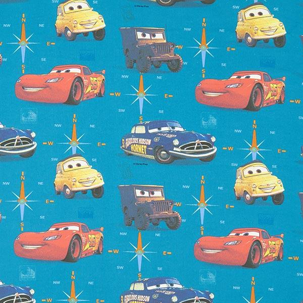 Baumwollstoff Disney Cars 2 – türkis