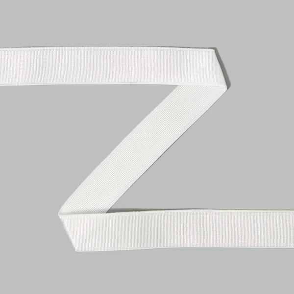 Bande de satin élastique  - blanc