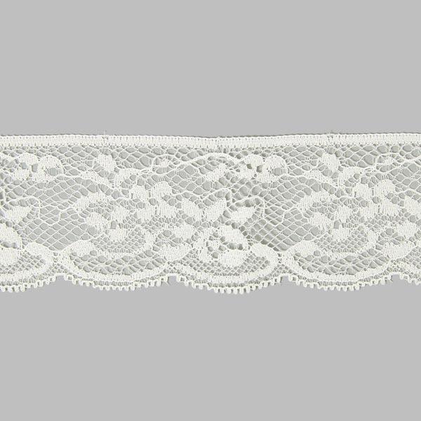 Elastische Spitze Rose [35 mm] - wollweiss