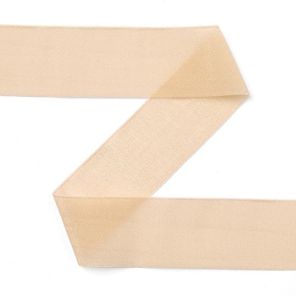 Organza Einfassband (Falzgummi), elastisch Goldie - hellbeige