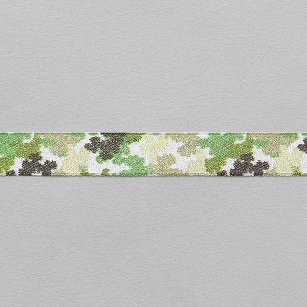 Satinband Camouflage [ 15 mm ] – beige/grün