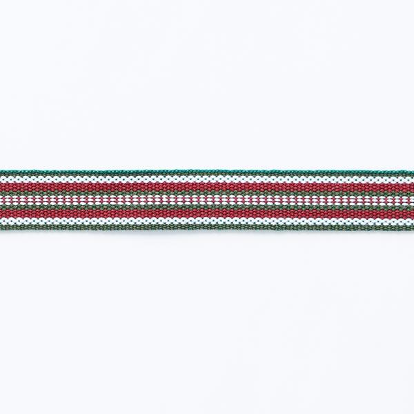 Webband Ethno [ 15 mm ] – dunkelgrün/bordeauxrot
