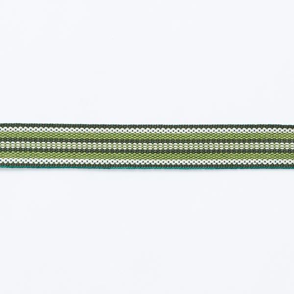 Webband Ethno [ 15 mm ] – dunkelgrün/grasgrün