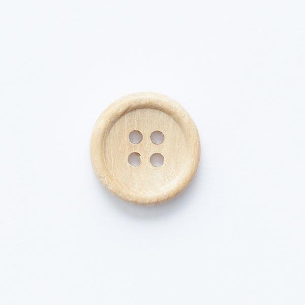 Bouton en bois 4trous  – beige