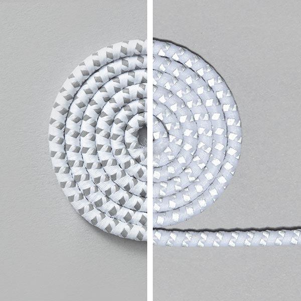 Reflex-Kordel – weiss/silber