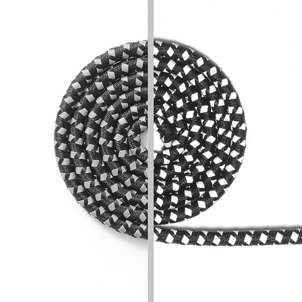 Reflex-Kordel – schwarz/silber
