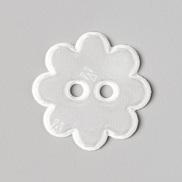 Reflex Knopf Blume - weiss