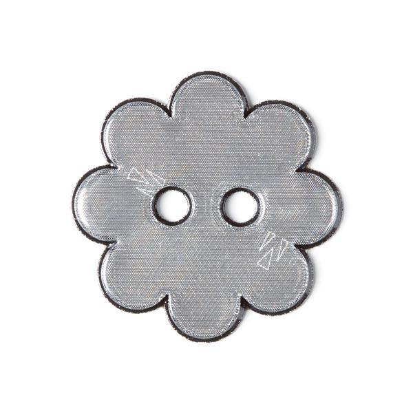 Bouton réflex Fleur - gris foncé