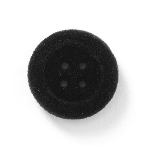 Bouton en velours 4 trous – noir