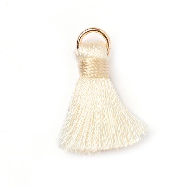 Pompon anneau d'or Minimum [20 mm] - blanc cassé