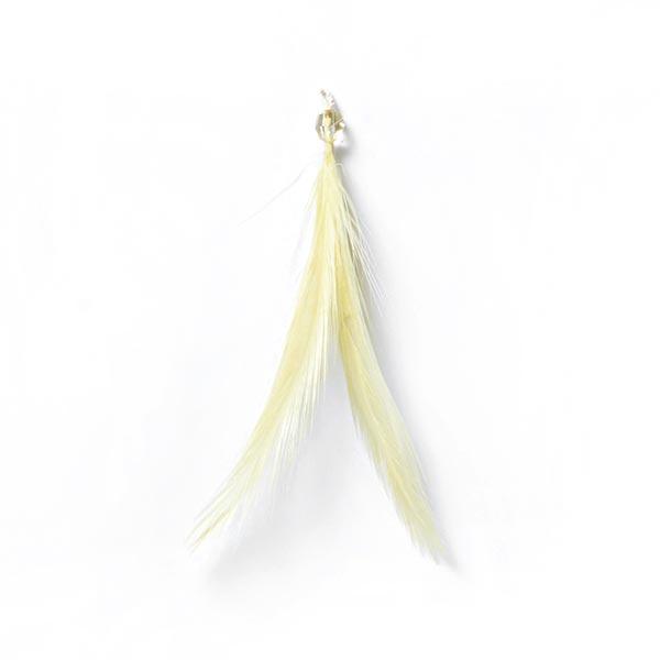 Pendentif plume – jaune clair