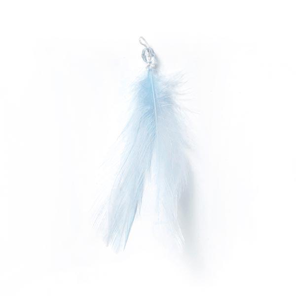 Feder Anhänger – hellblau