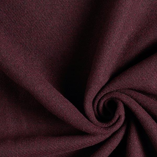 frakke stof, ru – aubergine