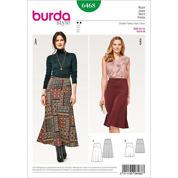 rivenditore di vendita 59079 2e569 gonna con fascia elastica in vita, Burda 6468 | 34 - 44