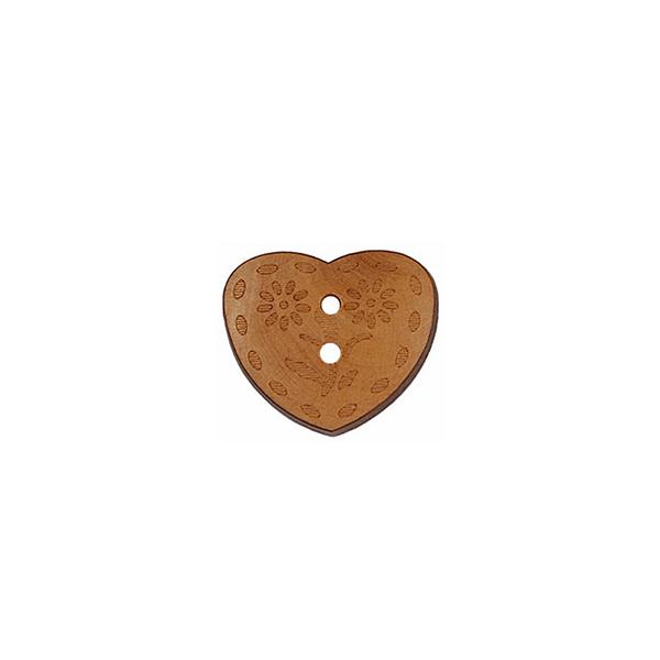 Herzknopf aus Holz