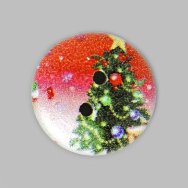 Weihnachtsknopf zum Annähen