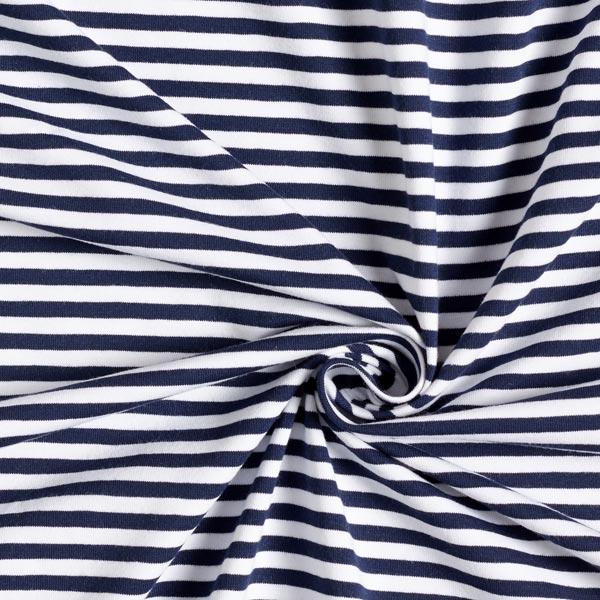 Reste baumwolljersey Tissu Paquet 2 x 25 x 150 MARITIME fines rayures bleu//blanc