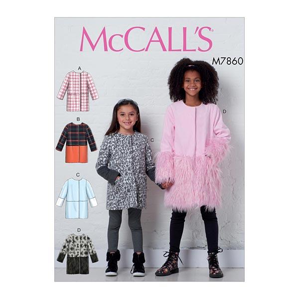 buy popular b22fe 26646 Mädchen Mantel, McCalls 7860 | 104 - 122