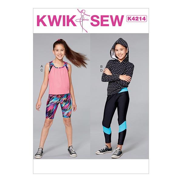 brand new a8c3a db640 Mädchen Sportbekleidung: Top | Capri | Leggings, KwikSew 4214 | XXS - L