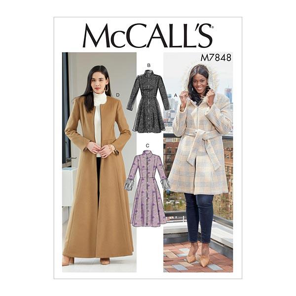 ceintures RR 46 W-50 W-52 W-24 W McCalls 7848 Patron de couture pour manteaux