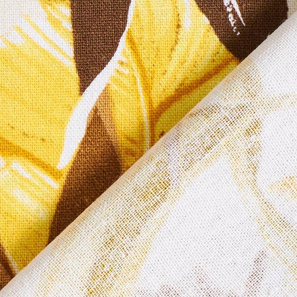 Pont à rayures jaune français de lin//coton tissuen Stock Maintenant