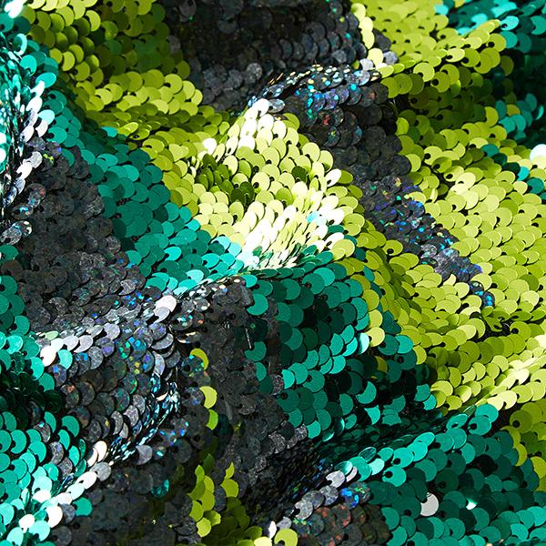 Paillettenstof Draaipailletten Groen Zilver Pailletten Stoffen Stoffen Net