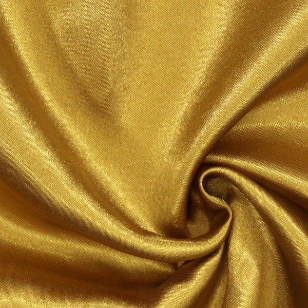 Satinstoff in Gold