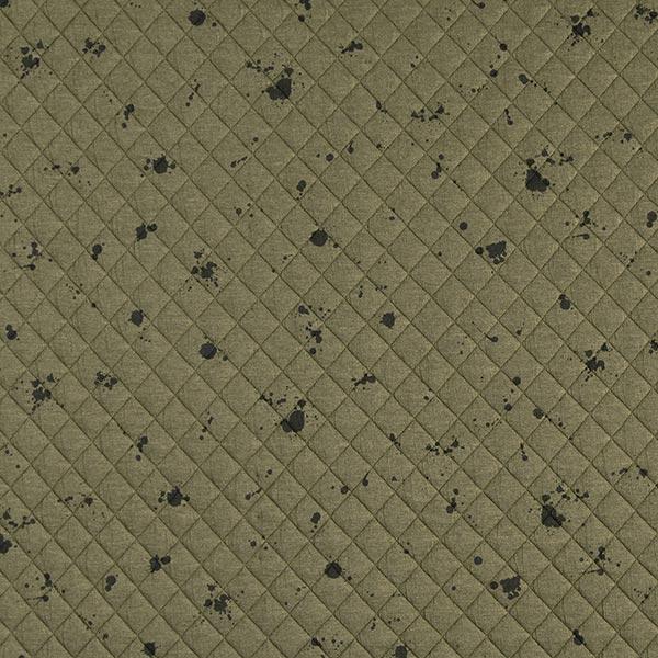 240886c4 Quiltet stof Jersey Blækklatter – kaki - Jerseystoffer- stofkiosken.dk