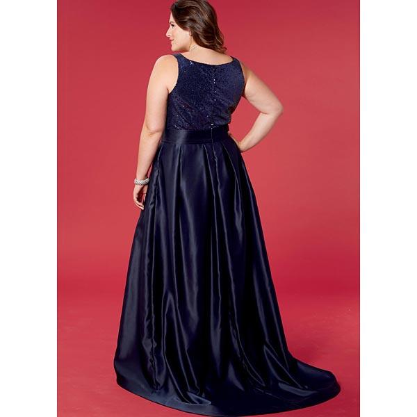 Robe De Soiree Grande Taille Mccalls 7684 44 50 Patron De Couture Robe Tissus Net