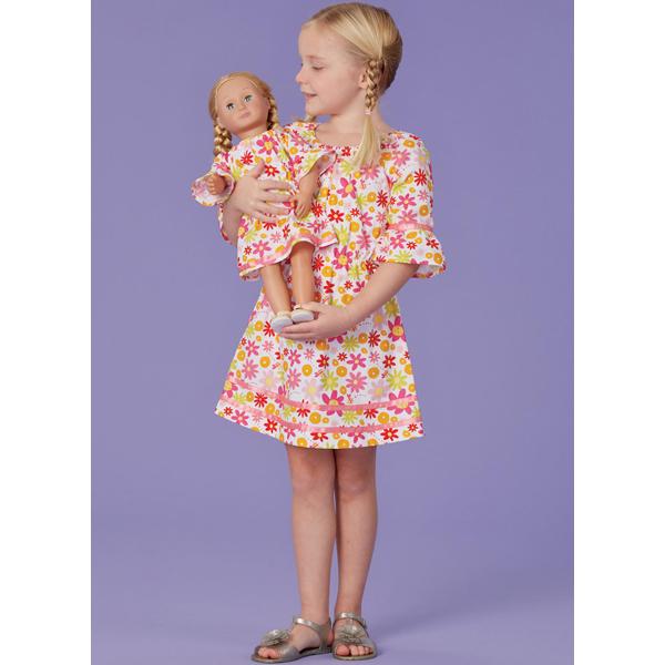 Robe Fille Top Pantalon Capri Robe Poupee Kwiksew0261 Xxs L Patrons De Couture Bebes Enfants Ados Tissus Net