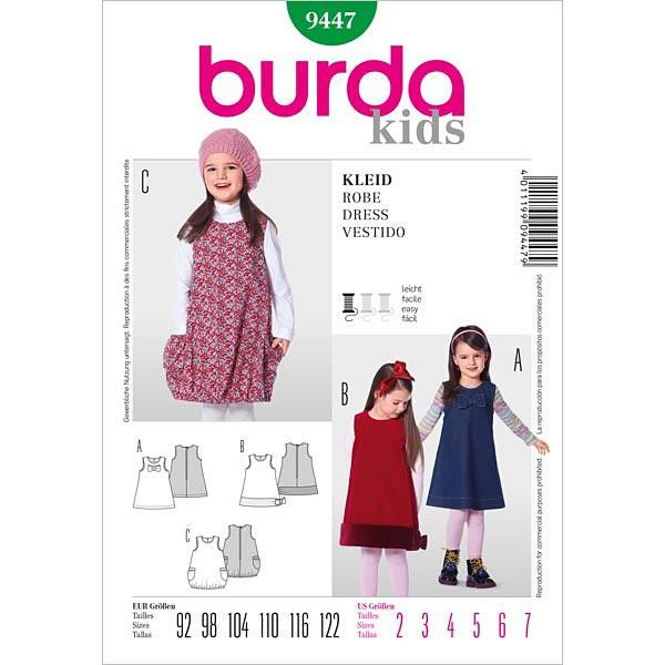 Robe Pour Enfants Burda 9447 Patrons De Couture Bebes Tissus Net