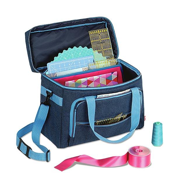 Sewing Machine Bag Prym Denim Turquoise