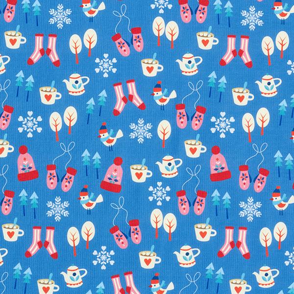 Antimikrobieller Funktionsstoff mit Weihnachts- und Wintermotiven