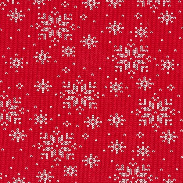 Weihnachtlicher Sweatshirtstoff in Strickoptik
