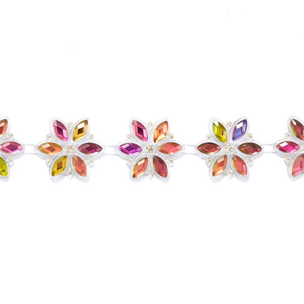 Glitzerndes Blumenband
