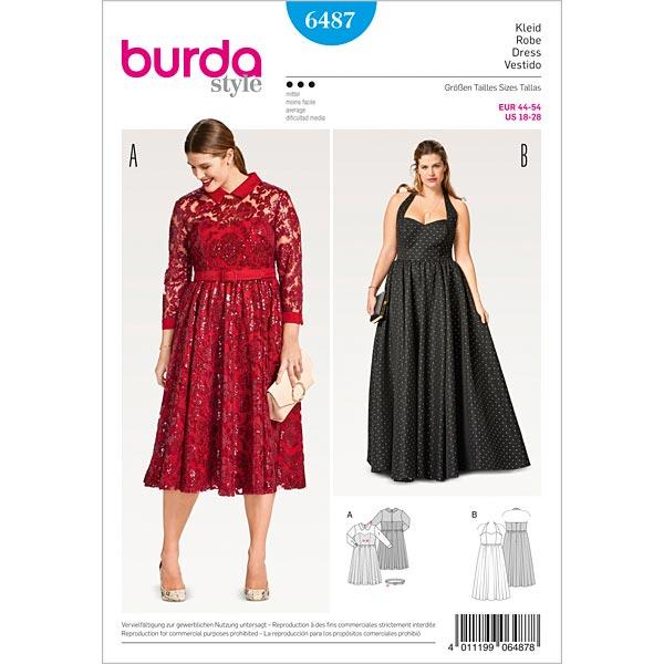sale retailer 5b02e 707fe taglie comode - abito da sera | abito bustier, Burda 6487 | 44 - 54