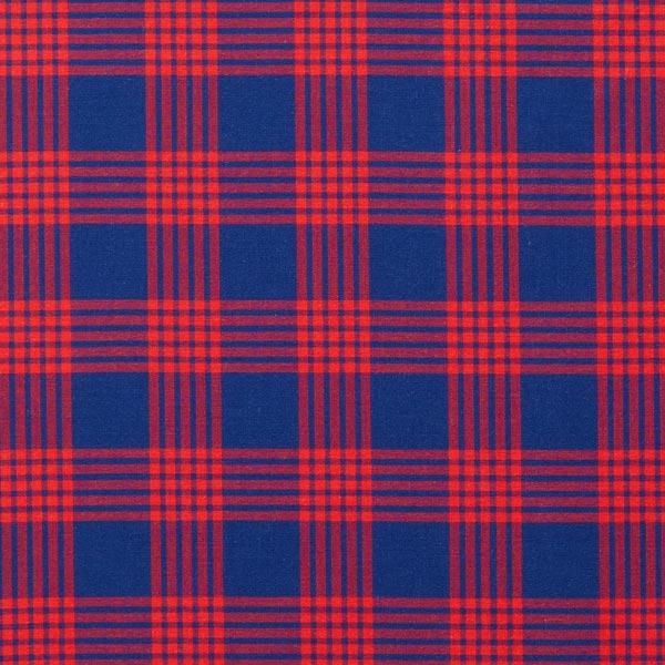975d9e4efc Tecido para camisas Algodão Xadrez – azul-marinho/vermelho - Tecidos ...