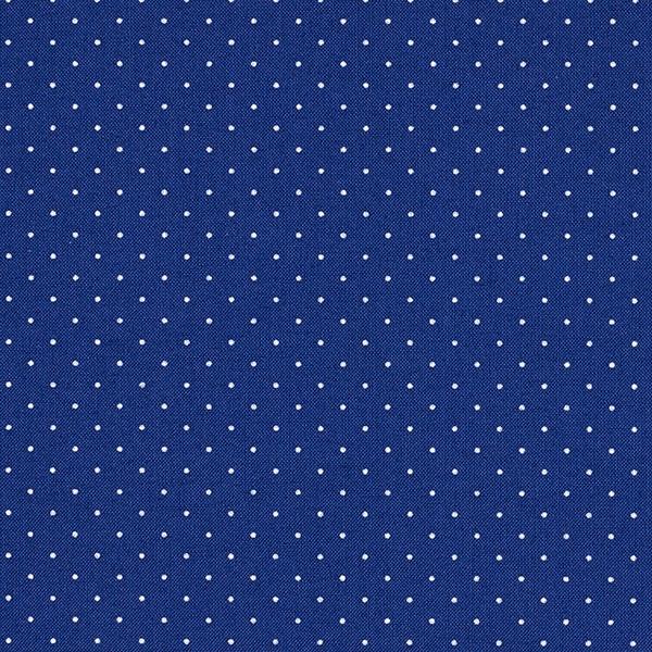 ed9708a1f Tela de algodón Popelina Puntos – azul marino