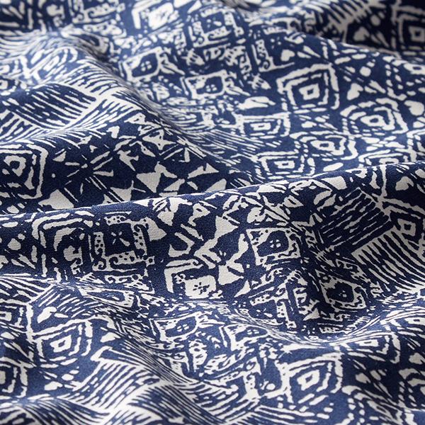 8f771f66f Tela para pantalón Étnico Patrón africano – blanco/azul marino