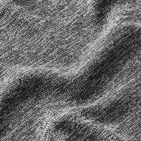 Tessuto jersey a maglia ai ferri GRIGIO MELANGE Melange viscosa//poliestere