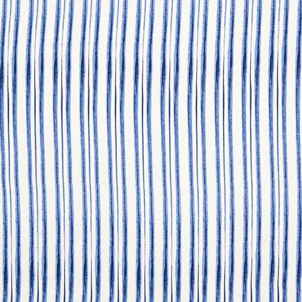 profiter de prix discount de style élégant vif et grand en style Tissu de chemisier Viscose Rayures – bleu jean/blanc